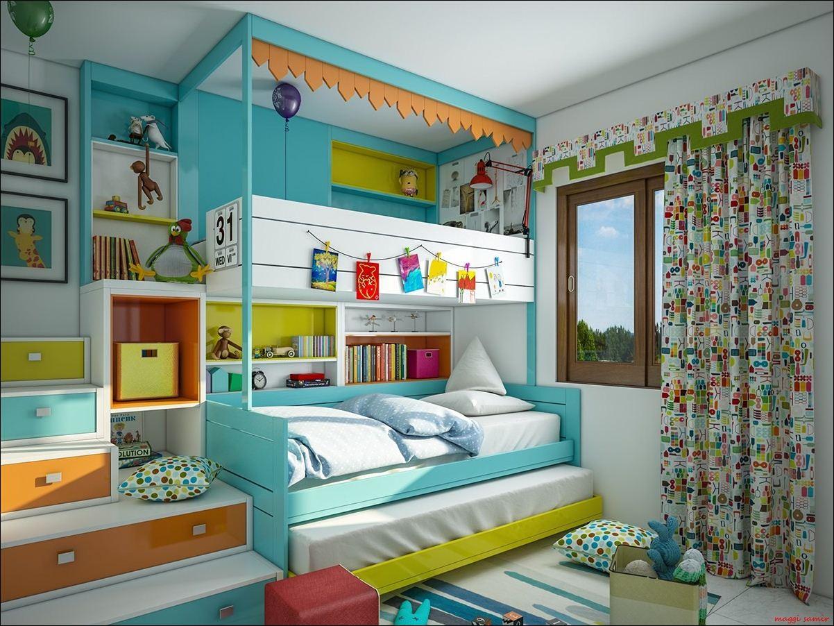 Super fargerike soverom ideer for barn og tenåringer - interiør ...