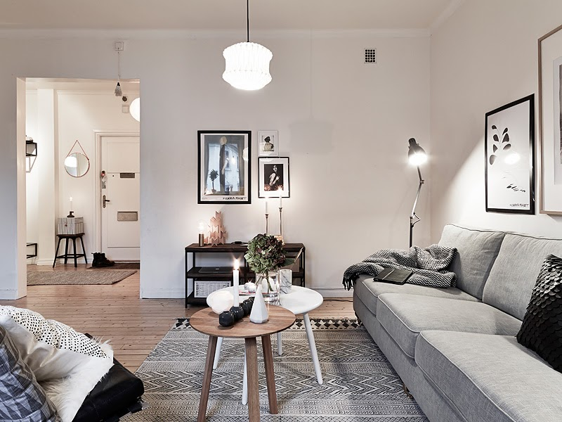 D couvrir l 39 endroit du d cor scandinave aux tons neutres - Woonkamer decoratie ideeen ...