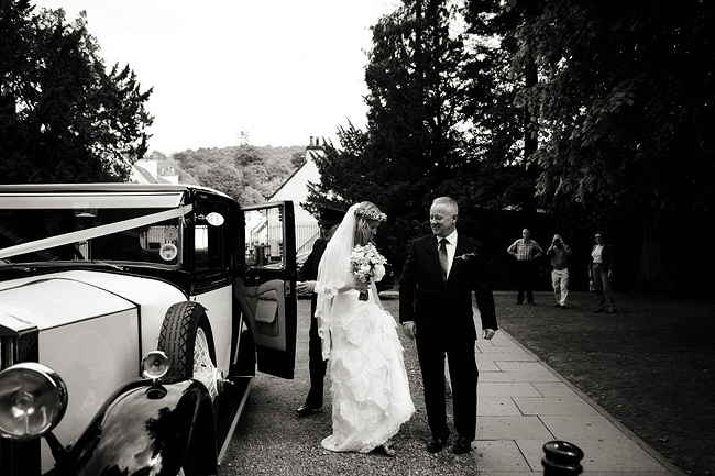 {Lillian and Leonard Wedding Photography} bride arriving