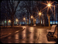 1600x1200, City, Park, Night