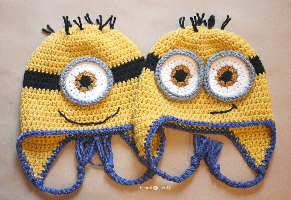 Free Crochet Pattern Minion Beanie : Hopeful Honey Craft, Crochet, Create: Free Minion ...