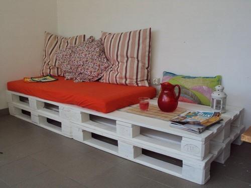 Ent o isso sof feito com pallets for Futon de dos plazas precio