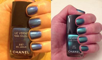 Chanel, Chanel L'Ete de Papillon de Chanel, Chanel Le Vernis Nail Colour, Chanel Bel-Argus, Chanel Azure, nail polish, nail varnish, nail lacquer, manicure, mani monday, #manimonday, nails