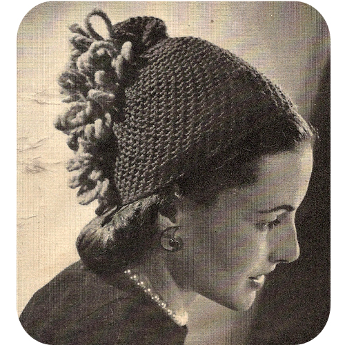 Minion Knitting Patterns : Vintage Knit Crochet Shop Talk: Florentine Skull Cap, A Crochet Beanie Pattern