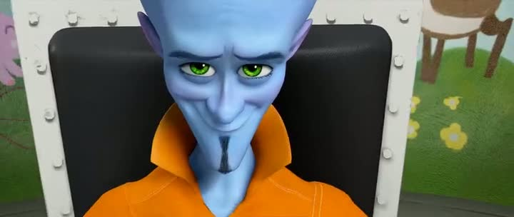 Screen Shot Of Megamind (2010) Dual Audio Movie 300MB small Size PC Movie