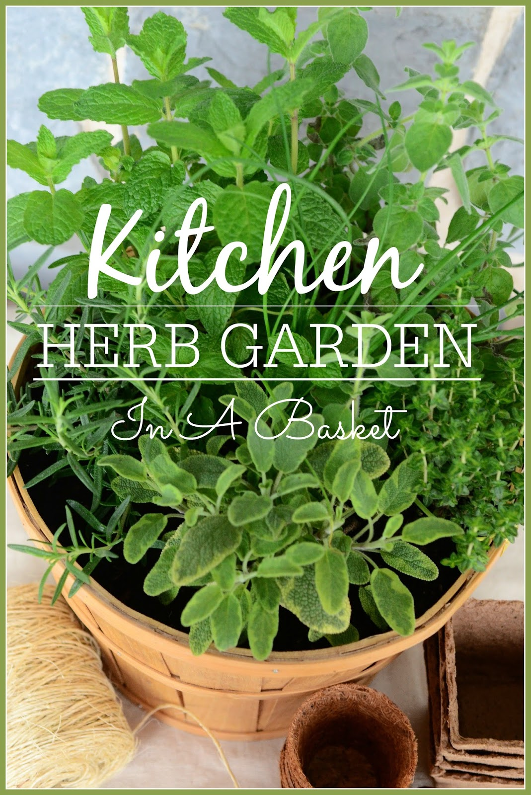 Kitchen Herb Garden In A Basket