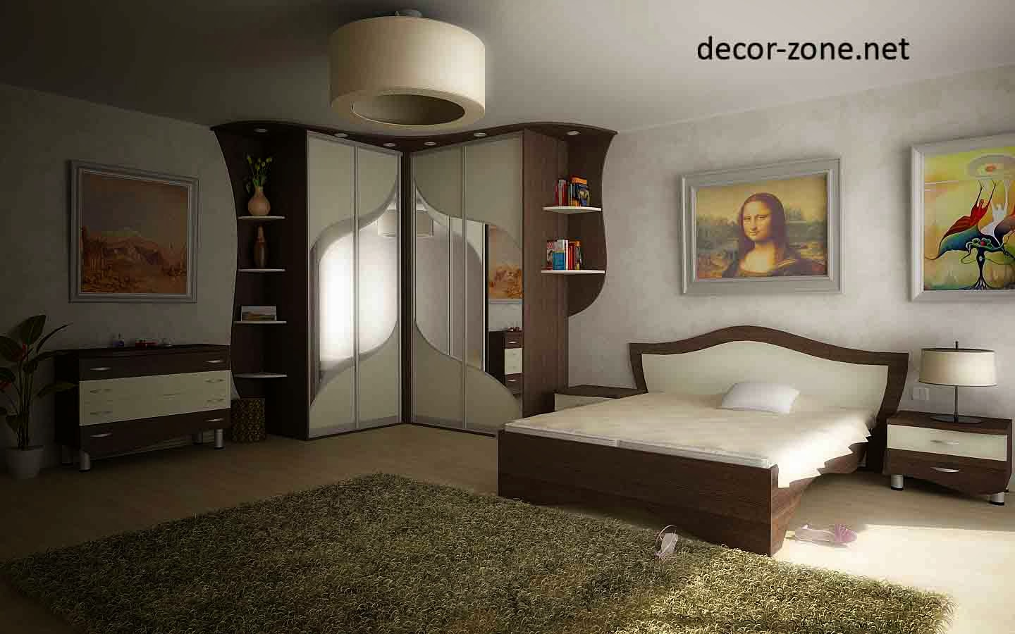 master bedroom furniture, bedroom corner closet, shelving