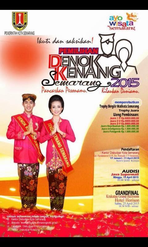 Pemilihan Duta Wisata Denok Kenang Semarang 2015