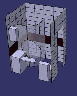 трехмерный проект ванной
