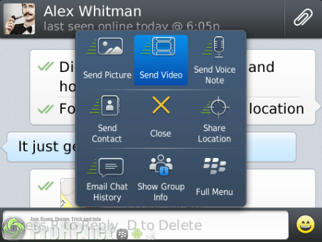 WhatsApp Messenger v2.11.409 for BlackBerry