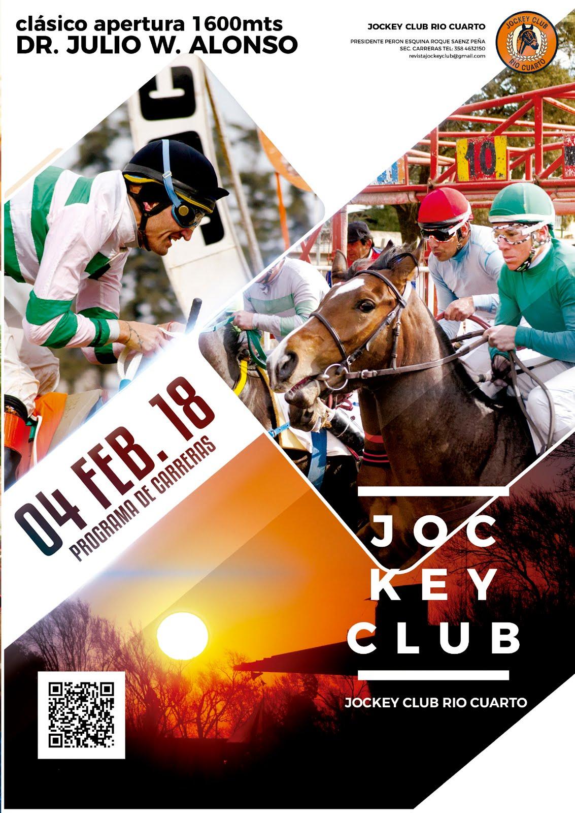 Programa de carreras / 04 de Noviembre 2018 / Jockey Club Río Cuarto
