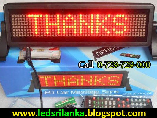 Car LED Scrolling Message Display