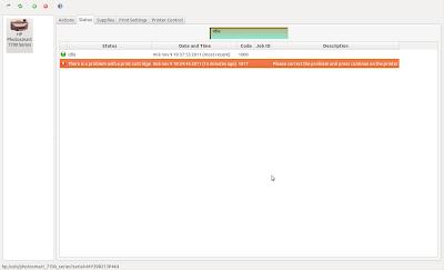 Nivel de tinta cartuchos hp en Ubuntu 11.10