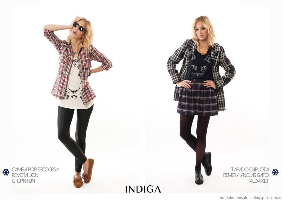 Moda otoño invierno 2014 Indiga colección de ropa de moda 2014. Camisas, blusas y faldas de moda 2014.