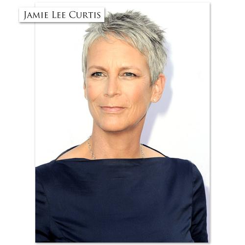 jamie lee curtis short hairstyles front and back view jamie lee curtis ...