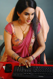 Actress Kavya Singh Latest Pictures in Red Saree 0012