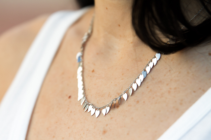 Silver Large Leaf Necklace Forever Leaf Collection by Chavin