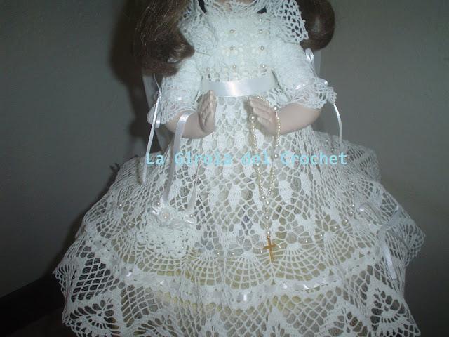 Vestido de primera comunión tejido a crochet - Imagui