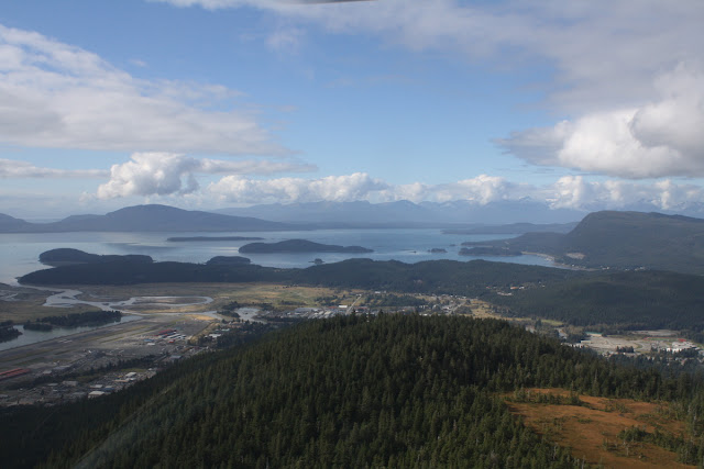 Helicopter View of Airport and Auke Bay