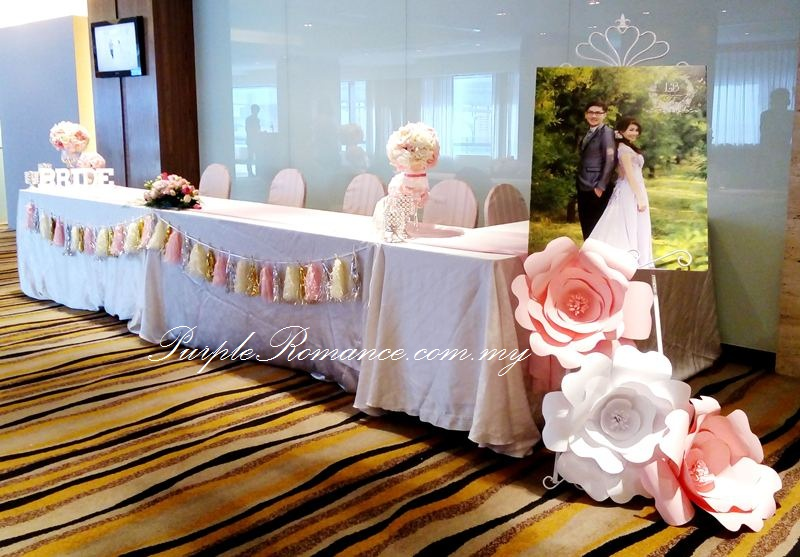 Pastel colour paper flower wedding decoration park royal kuala photo booth backdrop with giant paper flowers in pastel colours bunting logo angelababy junglespirit Image collections