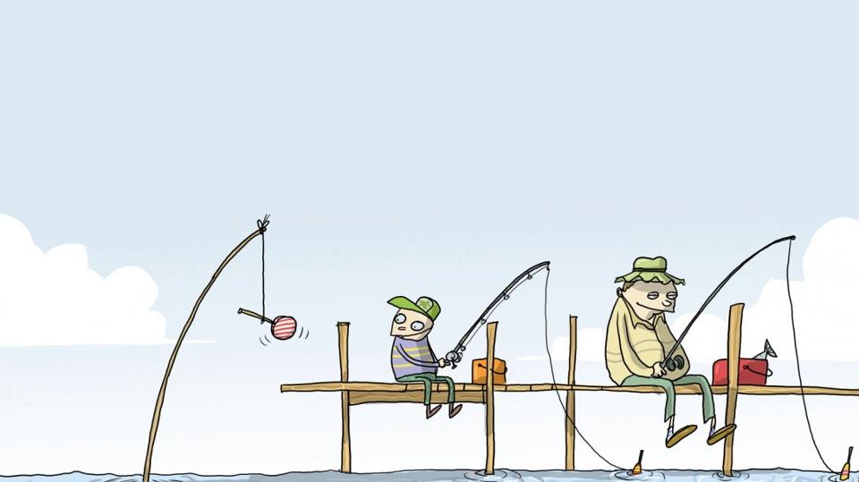 Shark bait fishing cartoon funny joke pictures for Funny fishing cartoons