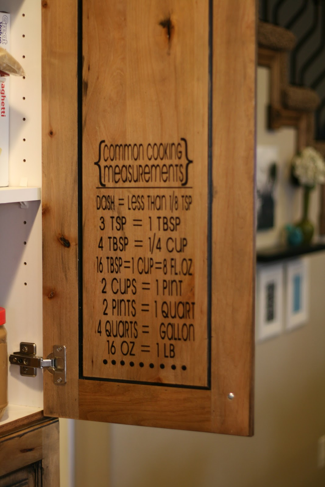 Creative juices cooking measurements decal for Kitchen ideas w2 5sh