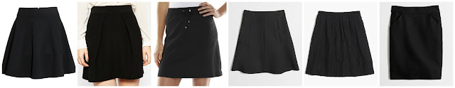 H&M Circle Skirt $9.99 (regular $14.99)  ASOS A Line Mini Skirt with Pleat Front $14.00 (regular $36.00)  Croft & Barrow Solid Knit Skort $19.99 (regular $32.00) J. Crew Factory Flared Skirt $32.50 (regular $78.00)  Madewell Threadwork Skirt $39.99 (regular $78.00)  J. Crew Factory Pencil Skirt $44.50 (regular $75.00)