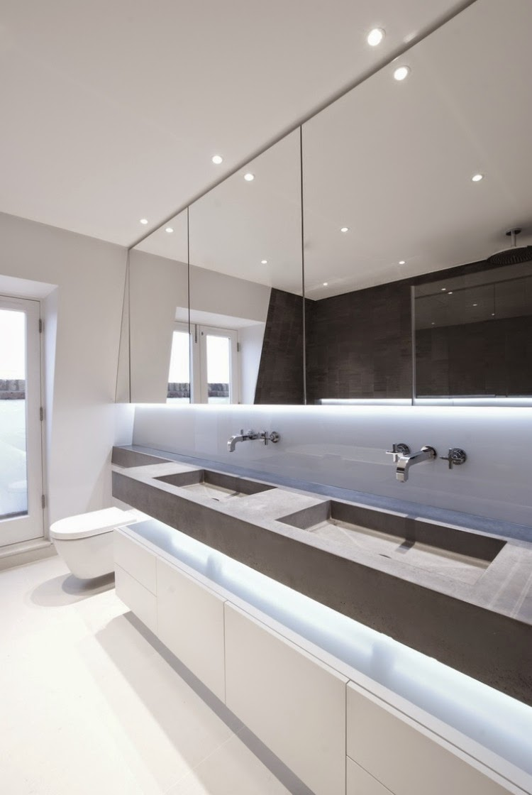 Elegant modern bathroom lighting ideas led bathroom lights for Contemporary bathroom lighting ideas