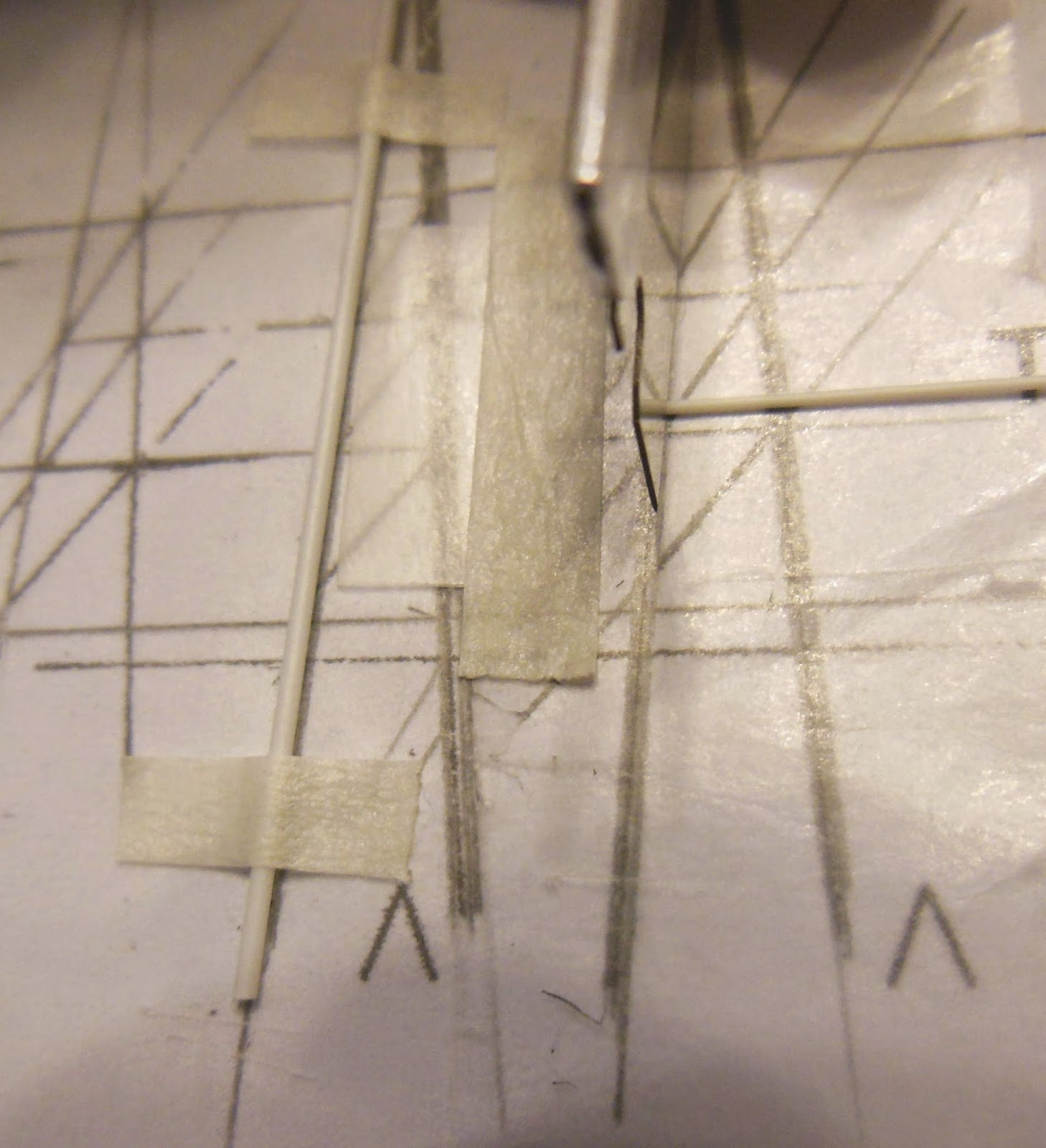 Model Rocket Building Fliskits Mercury Redstone Build Part 8 Tower Wiring Vertical To Cut The Horizontal Strut Correct Angle It Was Set Down On A Copy Of Immediately Right Left Side At