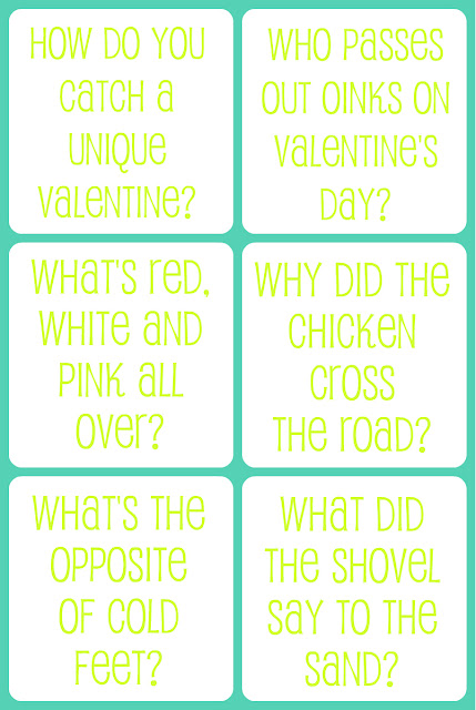 Valentine Jokes For Kids Free Printable