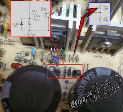 Configuración darlington transistores PNP