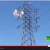 صاعقة كهربائية تقتل شاب في برج كهربائي عالي