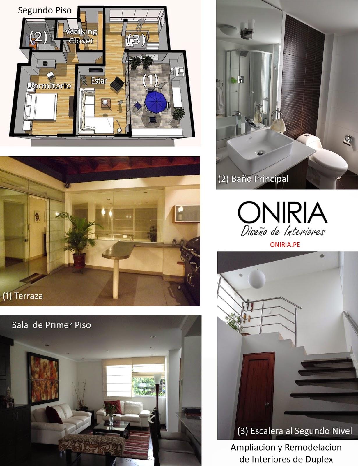 Oniria remodelaci n integrales de interiores de casas y - Diseno y arquitectura de interiores ...