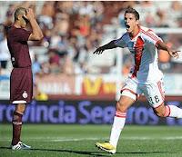 Lamela festeja su gol River Plate