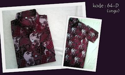 Baju Batik Pria 64D