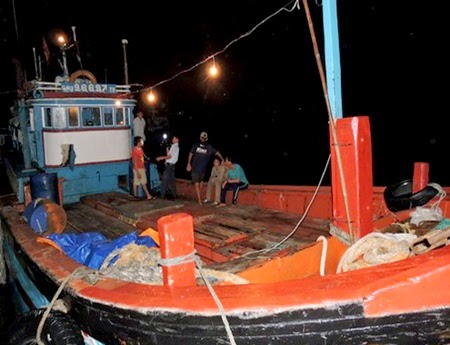 The Quang Ngai fishing vessel