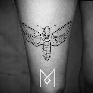 Green Pear Diaries, arte, tatuajes, Mo Ganji, tatuajes minimalistas