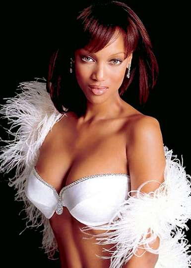 Diamond Dream Fantasy Bra modelled by Tyra Banks