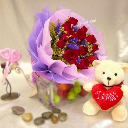 12 Valentine's Red Roses and prices