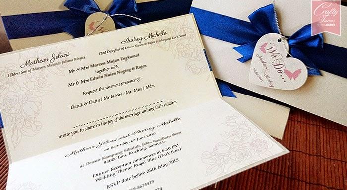 Kad Kahwin Malaysia, Kuala Lumpur, Royal Blue