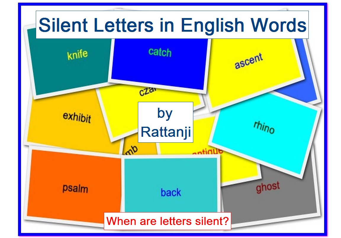 Silent Letters In English Words A Book By Rattanji Silent