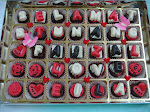 35 pcs Chocolate in box with deko