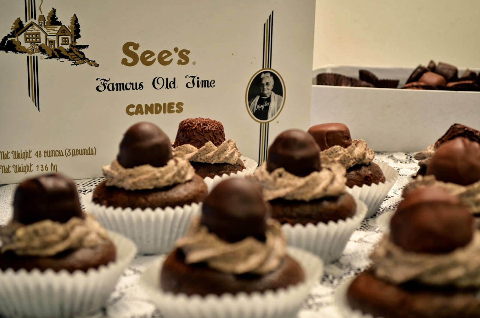 See's Candies Chocolate Cupcakes / A Little Baker