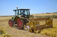 Pulse vegetables harvester. Old Lenz mower