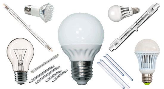 Основные типы электрических ламп. Лампы накаливания, люминесцентные, галогенные и светодиодные
