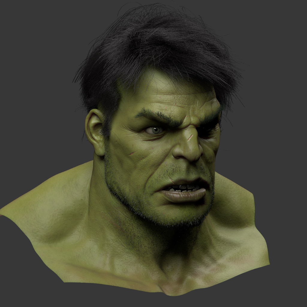 Hulk Face Painting