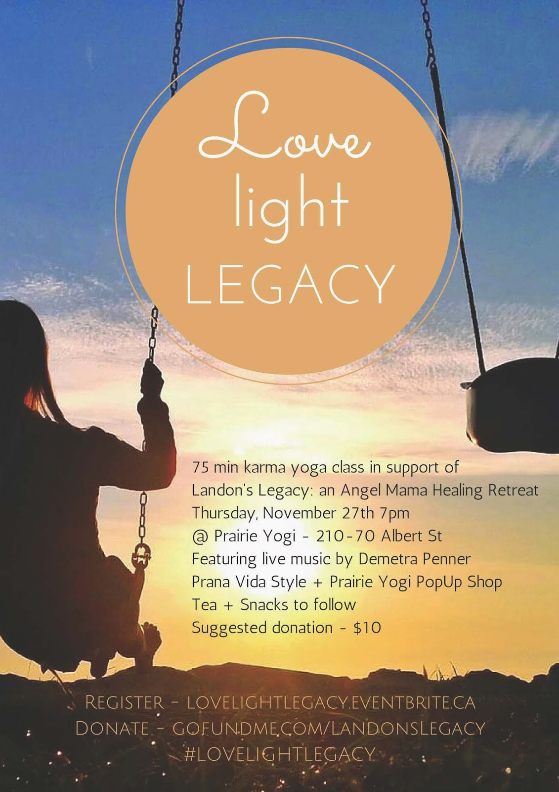 Amelia barnes, Landon's Legacy, Angel Mama Healing Retreat, Karma Yoga, Prairie Yogi Pop Up shop, Prana Vida Style,