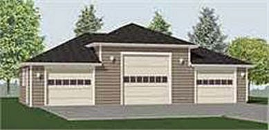 Hipped roof garage plans garage plans blog behm design for 2 bay garage plans