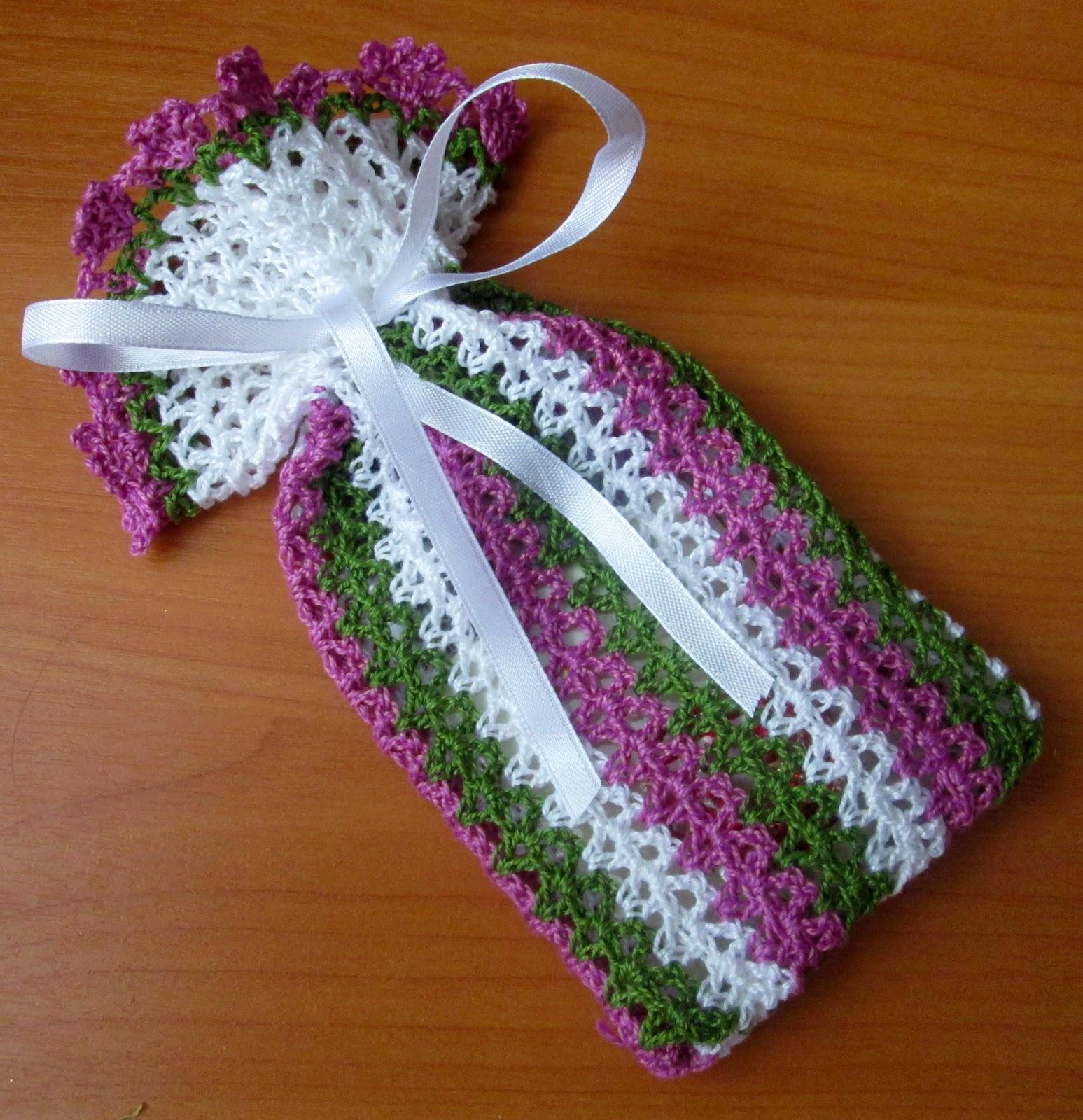 Вязаные мешочки для подарка 195