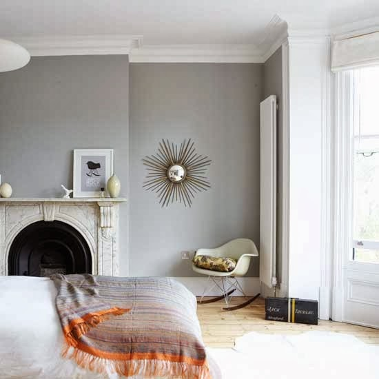 Farrow and Ball Lamp Room Gray bedroom